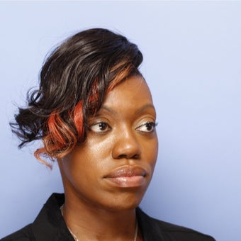 Woman treated with African American Rhinoplasty before 2107671