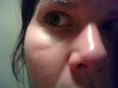 Wrinkles in corner of eyes