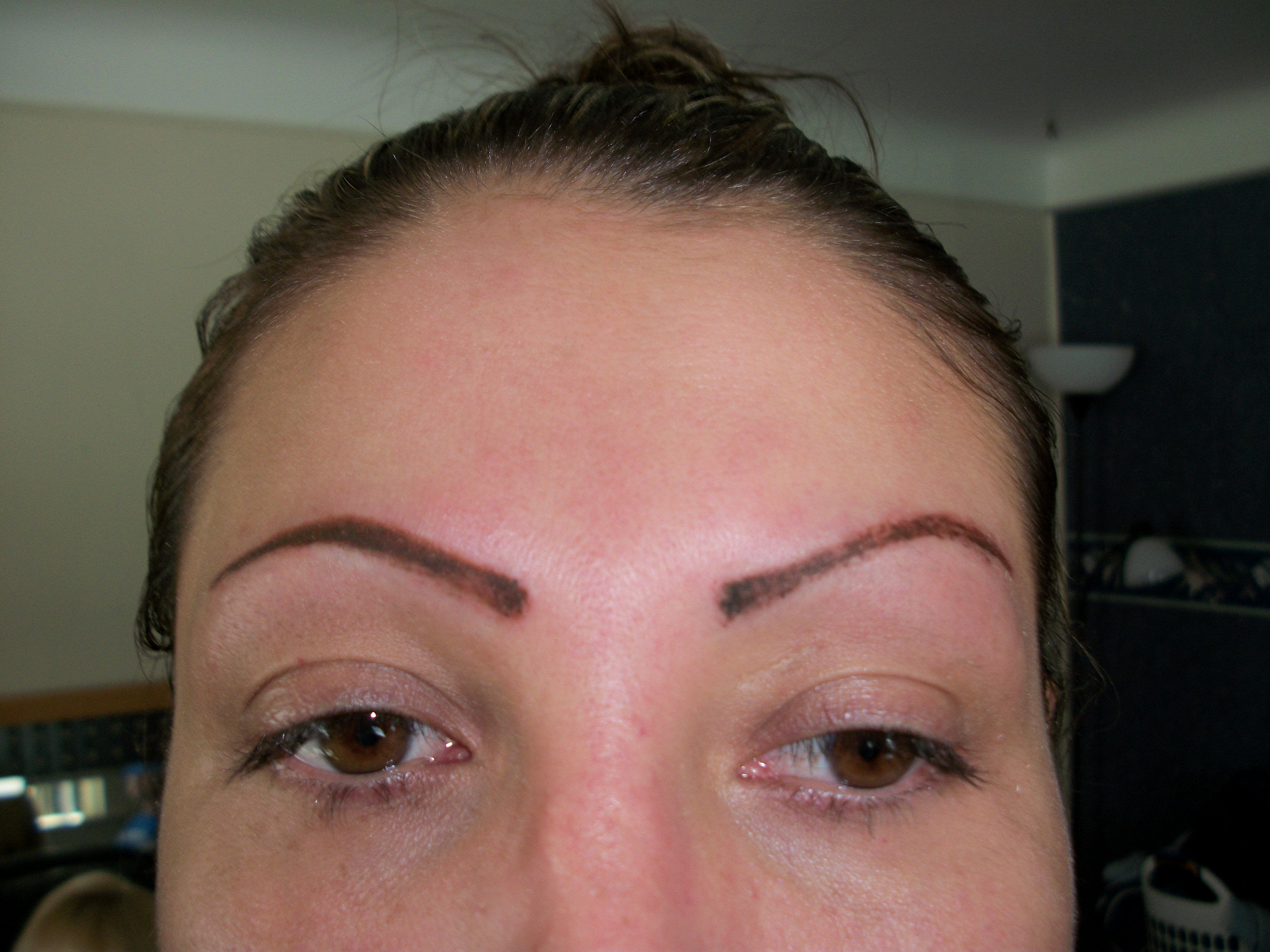 Want thicker eyebrows try eyebrow implants for Eyebrow tattoo images