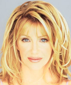 Suzanne Somers pushes the face master