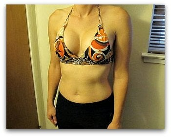 d cup breasts after augmentation surgery from b cup
