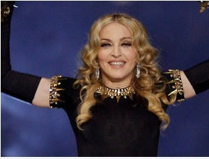 Madonna during the Super Bowl halftime