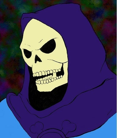 If you run, you may end up looking like Skeletor.