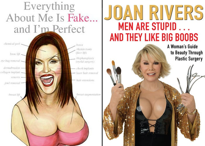 Janice Dickinson and Joan Rivers book covers