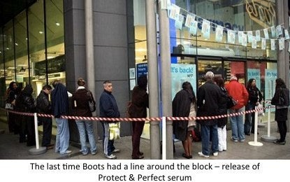 Boots Nip + Fab queue
