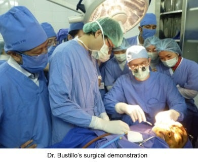Dr. Bustillo Vietnam demo surgery