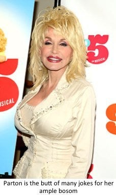Dolly Parton does not want breast reduction