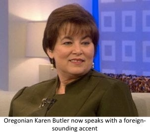 Karen Buter has foreign accent syndrome