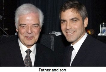 Nick and George Clooney are old and handsome