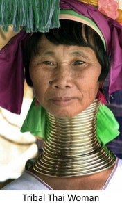 Tribal Thai woman with elongated neck