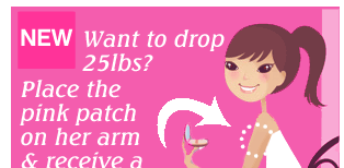 Pink Diet patch ad