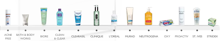 Acne product line up
