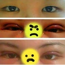 First photo is my original eyes. 