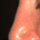 Bump in nose from left view.
