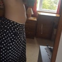 My tummy side on, want it completely flat.