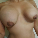 Flexing breast and diffrent side view