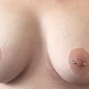 Jagged nipple edges left rounder / right oblong oval